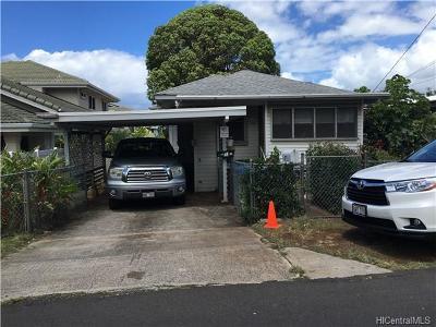 Honolulu Single Family Home In Escrow Showing: 1931 Lohilani Street