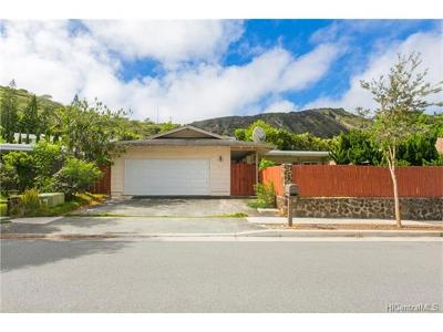 Single Family Home For Sale: 919 Wainiha Street