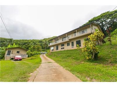 Single Family Home For Sale: 47-864 Kamehameha Highway