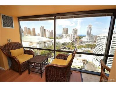Honolulu Condo/Townhouse For Sale: 1750 Kalakaua Avenue #1903