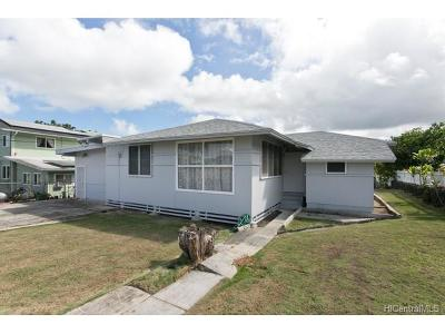 Kaneohe Single Family Home For Sale: 45-414 Kulauli Street
