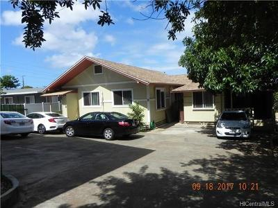 Honolulu Single Family Home For Sale: 1020 12th Avenue #B