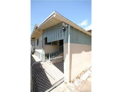 Honolulu Single Family Home For Sale: 824 Lopez Lane #A