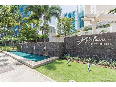 Honolulu Condo/Townhouse For Sale: 1177 Queen Street #1104