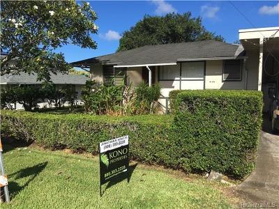 Single Family Home For Sale: 45-723 Wainana Street