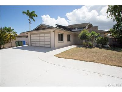 Mililani Single Family Home For Sale: 95-090 Lauaki Place