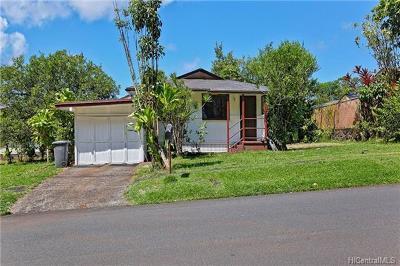 Wahiawa Single Family Home For Sale: 2508 California Avenue