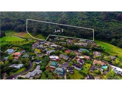Central Oahu, Diamond Head, Ewa Plain, Hawaii Kai, Honolulu County, Kailua, Kaneohe, Leeward Coast, Makakilo, Metro Oahu, N. Kona, North Shore, Pearl City, Waipahu Residential Lots & Land For Sale: Lot 5 Kamaaina Drive