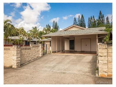 Mililani Single Family Home In Escrow Showing: 94-159 Kiaha Loop