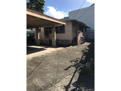 Honolulu Single Family Home For Sale: 1719 Yamada Lane