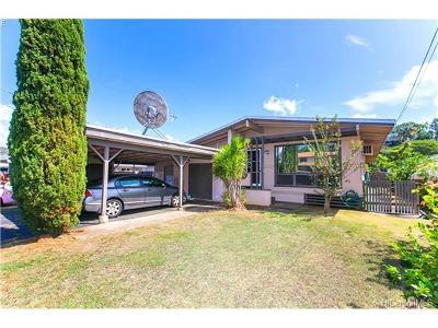 Single Family Home For Sale: 98-351 Ponokiwila Street