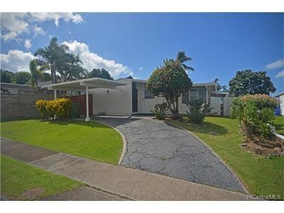 Single Family Home For Sale: 1475 Molehu Drive