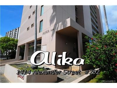 Honolulu Condo/Townhouse For Sale: 1414 Alexander Street #702