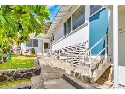 Honolulu Single Family Home For Sale: 2182-A Palolo Avenue