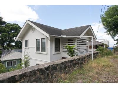 Honolulu Single Family Home For Sale: 1640 Kamamalu Avenue
