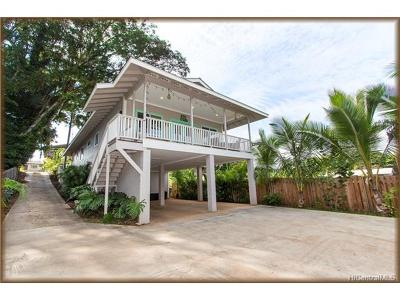 Haleiwa Single Family Home For Sale: 66-496 Paalaa Road #B