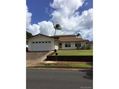 Aiea Single Family Home For Sale: 98-493 Puaalii Street