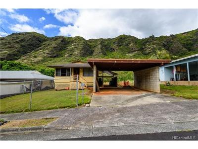 Honolulu County Single Family Home In Escrow Showing: 1232 Hind Iuka Drive