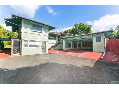 Aiea Single Family Home In Escrow Showing: 99-020 Nohua Place #A