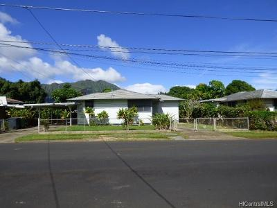 Kaneohe Single Family Home For Sale: 45-463 Makalani Street