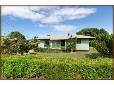 Waialua Single Family Home In Escrow Showing: 67-229 Kaliuna Street