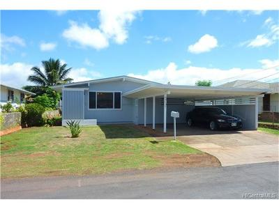 Waipahu Single Family Home For Sale: 94-137 Mokukaua Street