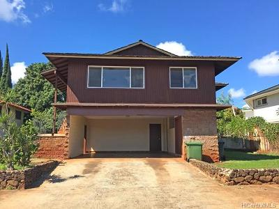 Waipahu Single Family Home For Sale: 94-1234 Hinaea Street
