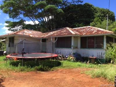 Wahiawa Single Family Home For Sale: 89a Kilea Place