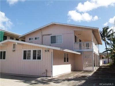 Single Family Home For Sale: 515 Kawainui Street