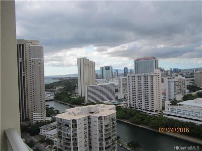 Hawaii County, Honolulu County Condo/Townhouse For Sale: 400 Hobron Lane #2614