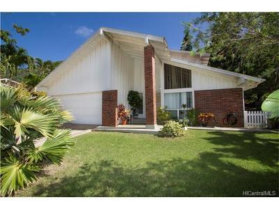 Honolulu County Single Family Home For Sale: 1105 Kalapaki Place