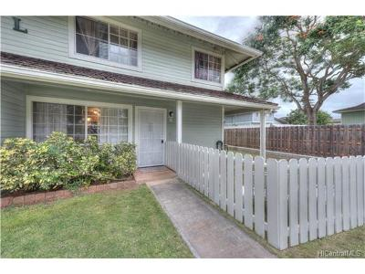 Waipahu Condo/Townhouse In Escrow Showing: 94-1451 Waipio Uka Street #L107