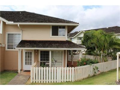 Waipahu Condo/Townhouse For Sale: 94-1481 Waipio Uka Street #E-105