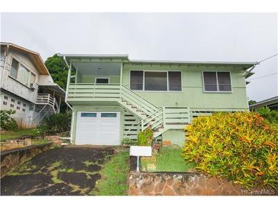 Aiea Single Family Home In Escrow Showing: 99-554 Kaulainahee Place