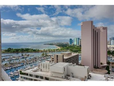 Hawaii County, Honolulu County Condo/Townhouse For Sale: 1777 Ala Moana Boulevard #2509