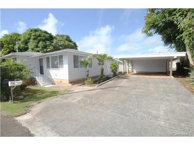 Wahiawa Single Family Home In Escrow Showing: 47a Kalie Street #A