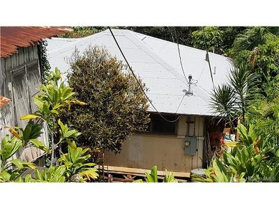Honolulu Single Family Home In Escrow Showing: 2626 Kalihi Street