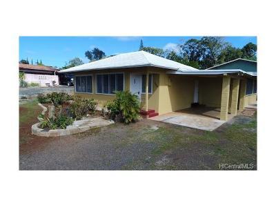 Wahiawa Single Family Home For Sale: 1773 Eames Street