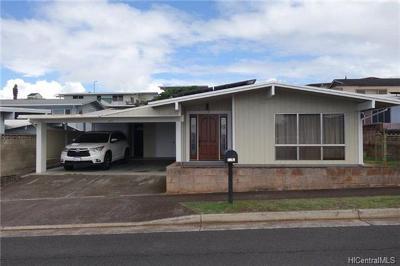 Pearl City Single Family Home For Sale: 1696 Hoohai Street