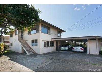 Honolulu Single Family Home In Escrow Showing: 1241 Nakuina Street