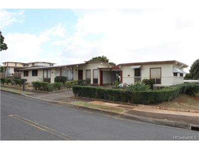 Pearl City Single Family Home For Sale: 1380 Hoona Street