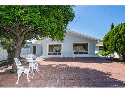 Honolulu Single Family Home In Escrow Showing: 3361 Likini Street