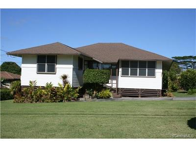 Wahiawa Single Family Home For Sale: 1572 Glen Avenue