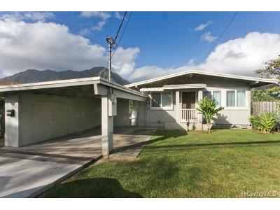 Single Family Home For Sale: 45-706 A Kamehameha Highway