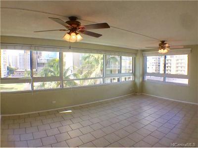 Honolulu Condo/Townhouse For Sale: 2465 Ala Wai Boulevard #603