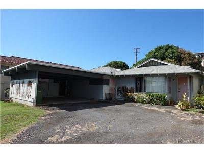 Honolulu Single Family Home For Sale: 1738 Kapalama Avenue