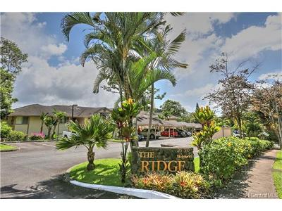 Mililani Condo/Townhouse For Sale: 95-510 Wikao Street #J103