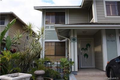 Single Family Home For Sale: 94-1029 Mawa Street