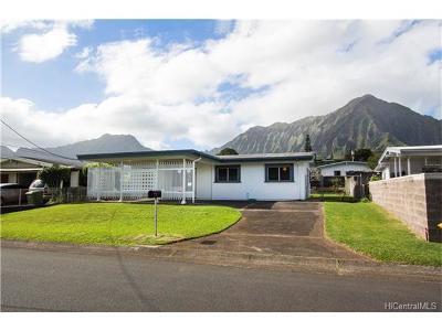 Kaneohe Single Family Home For Sale: 45-840 Keneke Street