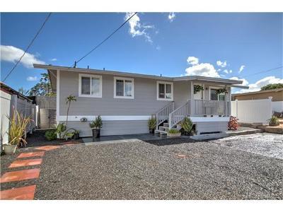 Waipahu Single Family Home In Escrow Showing: 94-068 Leowaena Street